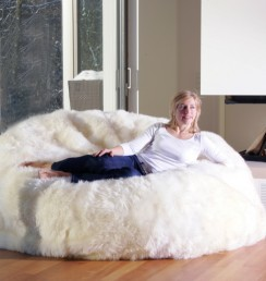Bean Bag 180x180 LWo Ivory