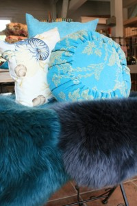 Lammfell blau türkis